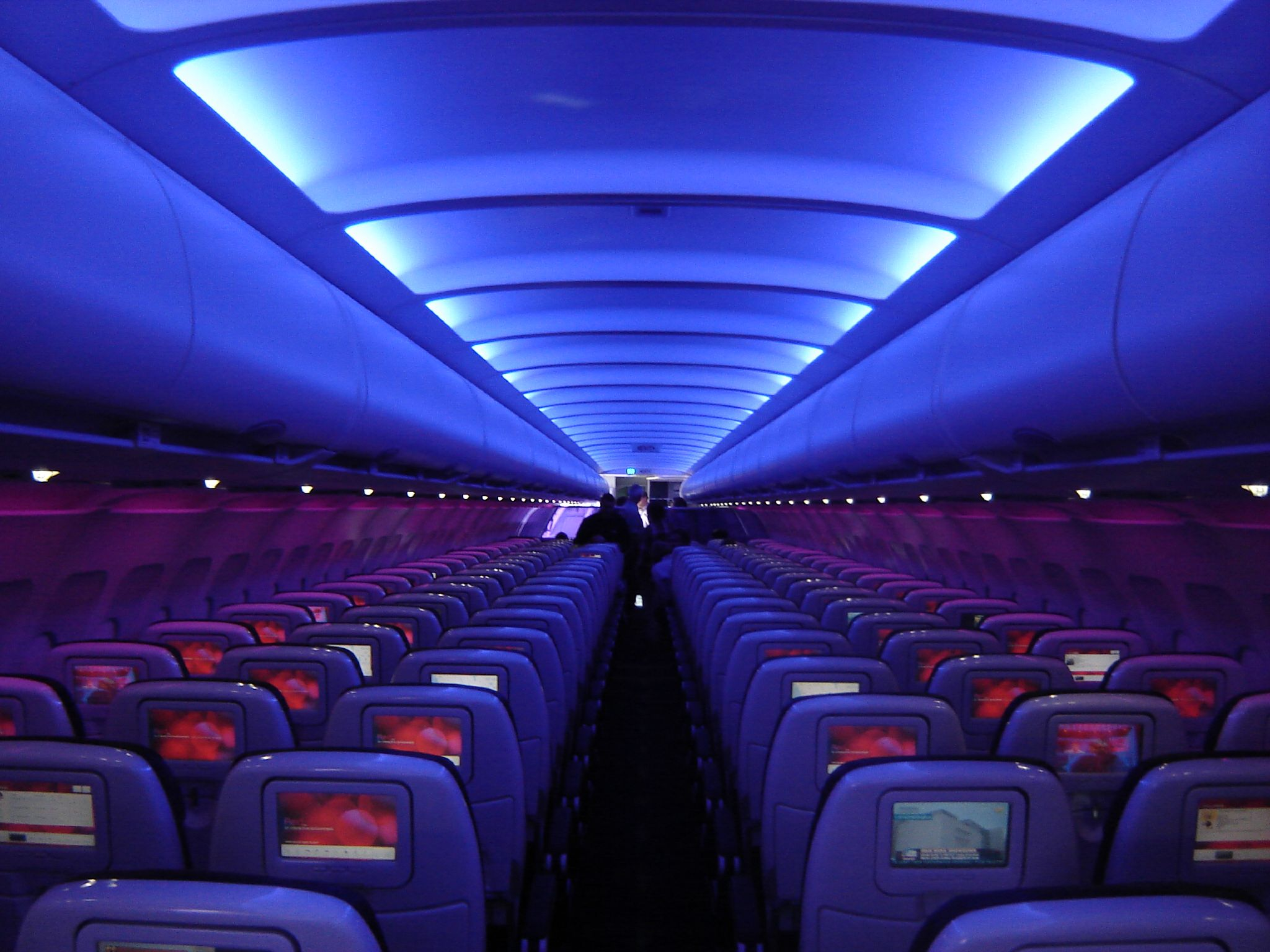 Virgin America A320 cabin